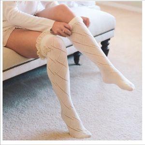 Accessories - Cream lace leg warmers.